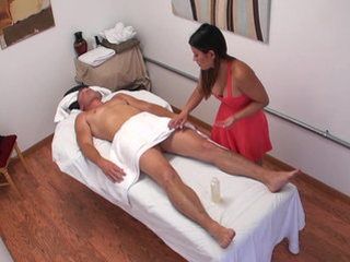 Fondling the masseuse