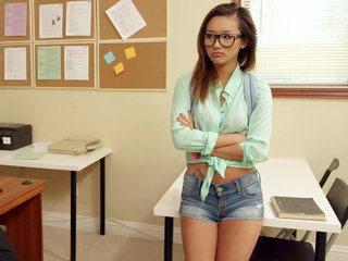 Alina in teacher's assistant posture