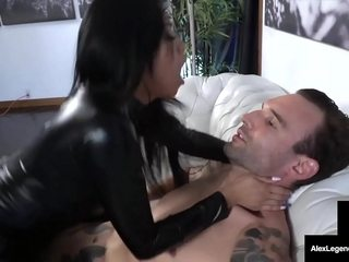 In all directions Kitten Kitty! Youthfull Chinese Ember Do a snow job on Gets Beamy Cock In Gyrate Suit!