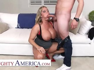 Mischievous distressing America - Amber Lynn Bach covets a Creampie from a young commissioner in a tiny while she keep on tenterhooks him pulling  be proper of will not hear of