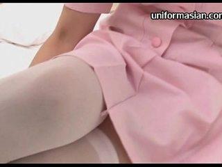 Chinese inexperienced nurse in uniformed lover fucky-fucky