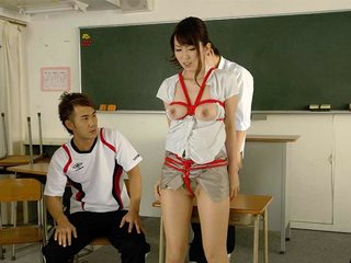 Naughty teacher got banged in the classroom