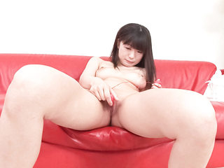 Nubile Shizuku strips, shaves, and playthings her pretty rosy gash